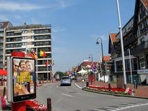 De kusttoevlucht knokke-Heist in Belgische provincie van West-Vlaanderen wordt het gevestigd langs Noordzee Royalty-vrije Stock Foto's