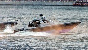 De kustwacht van de politie bij NDP 2009 Royalty-vrije Stock Foto's