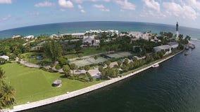 De kustwaterwegen van Florida stock footage