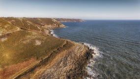 De kustweg van Wales in Swansea Stock Afbeeldingen