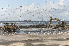 De kustwerken Katwijk Stock Foto's