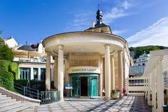 De kuuroordstad Karlovy varieert, Tsjechische republiek, Europa Royalty-vrije Stock Fotografie