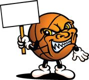 De kwade Kerel van het Basketbal Stock Fotografie