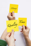 De Kwaliteit van het tijdgeld Stock Foto