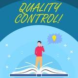 De Kwaliteitscontrole van de handschrifttekst Het concept die systeem om normen betekenen te handhaven analysisufactured binnen d royalty-vrije illustratie