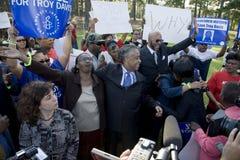 De kwestiesverblijf van het Hooggerechtshof in Troy geval van Davis Stock Foto