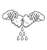 De là où pleuvoir venu Image libre de droits