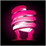 De lámpara de neón en color de rosa Imágenes de archivo libres de regalías