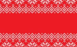 De lã feito malha do teste padrão do inverno Natal festivo feito malha Fotografia de Stock