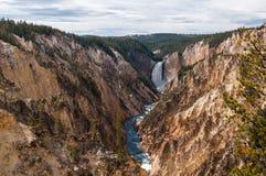 De lägre nedgångarna Yellowstone Royaltyfri Fotografi