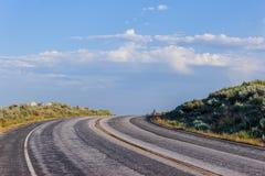 De långa vägarna Arkivbild