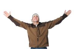 De l'adolescence avec des bras grands ouverts Image stock