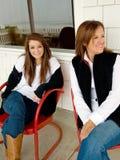 De l'adolescence avec la maman Images stock