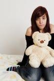De l'adolescence avec le jouet Photographie stock libre de droits