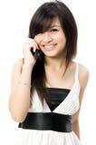 De l'adolescence avec le téléphone Image libre de droits
