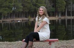De l'adolescence blond photographie stock libre de droits
