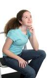 De l'adolescence contemplatif Image libre de droits
