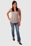 De l'adolescence dans des jeans Images stock