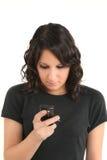 De l'adolescence et SMS Image libre de droits