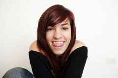 De l'adolescence heureux Photo libre de droits