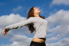De l'adolescence heureux Photos libres de droits