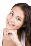 De l'adolescence heureux avec des supports Photographie stock libre de droits