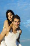 de l'adolescence porcin de couples arrières Photographie stock