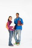 De l'adolescence préparez pour l'école - verticale Photo stock