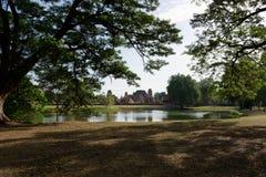 De l'arrière cour de Wat Mahathat Photo libre de droits