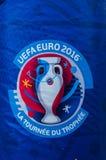 De-l'EURO 2016 La Tournée du Trophée Stockbild