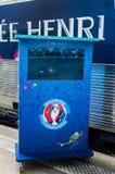 De-l'EURO 2016 La Tournée du Trophée Stockbilder