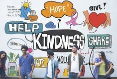De la amabilidad concepto de donante positivo optimista amablemente Imagen de archivo
