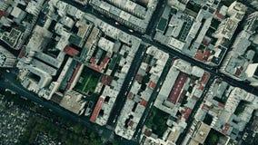 De la antena del top opinión abajo del distrito de Montparnasse en París, Francia Foto de archivo