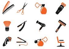 De la barbería iconos simplemente Imagenes de archivo
