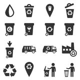De la basura iconos simplemente Foto de archivo