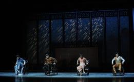 De la butaca de la danza- acto de madera pasado de moda en segundo lugar de los eventos del drama-Shawan de la danza del pasado Imagen de archivo libre de regalías