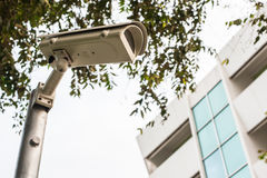 De la cámara CCTV edificio lateral hacia fuera Fotos de archivo