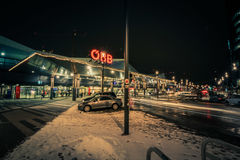 ` De la ciudad de Bahnhof del ` un nuevo distrito en Viena Imagen de archivo