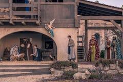 """€ de la CIUDAD DEL VATICANO """"16 de diciembre de 2015: Pesebre de la Navidad en el cuadrado de San Pedro Imagen de archivo"""