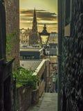 De la ciudad vieja de Edimburgo al nuevo Imágenes de archivo libres de regalías