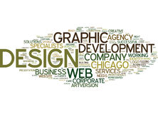 De la conception graphique à Web Development What Your Company a besoin du concept de nuage de Word de fond des textes Photo stock