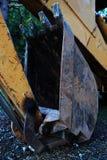 De la construcción del camión cierre para arriba Foto de archivo