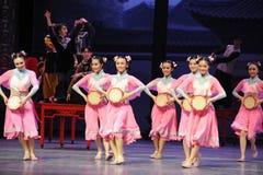 De la criada- el acto rosado primero de los eventos del drama-Shawan de la danza del pasado Foto de archivo libre de regalías