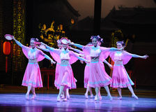 De la criada- el acto rosado primero de los eventos del drama-Shawan de la danza del pasado Fotos de archivo libres de regalías