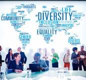 De la diversidad de la comunidad del concepto de la reunión hombres de negocios Imagen de archivo