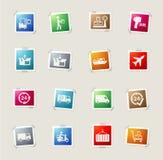 De la entrega iconos simplemente Fotos de archivo