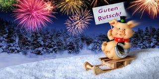 ` De la Feliz Año Nuevo del ` en alemán Imagenes de archivo