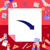 De la flecha icono abajo Imagen de archivo libre de regalías