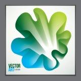 de la forma abstracta moderna, pendiente de la forma de la flor 3d 3d la Florida Stock de ilustración