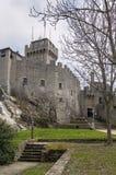 De La Fratta或Cesta塔,圣马力诺 免版税图库摄影